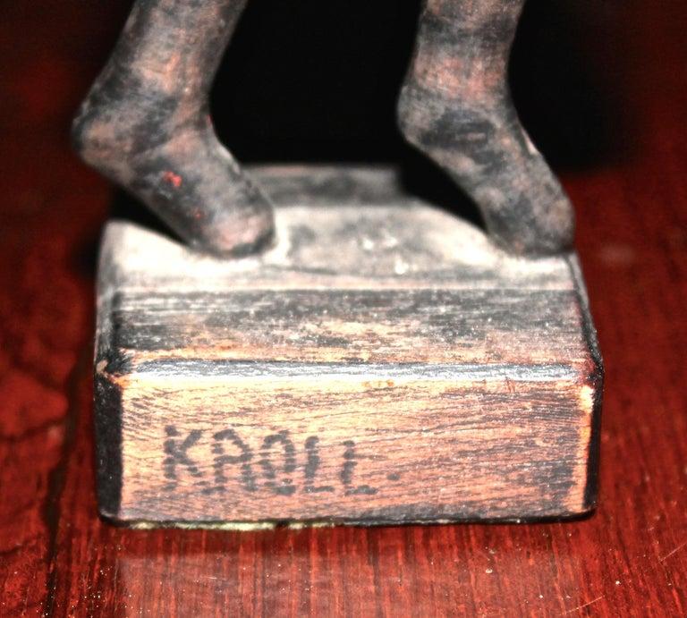 Modernist Sculpture Signed Kroll For Sale 1