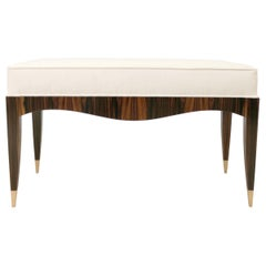 Modernist Series Art Deco inspired Bench in Ebony Macassar Veneer