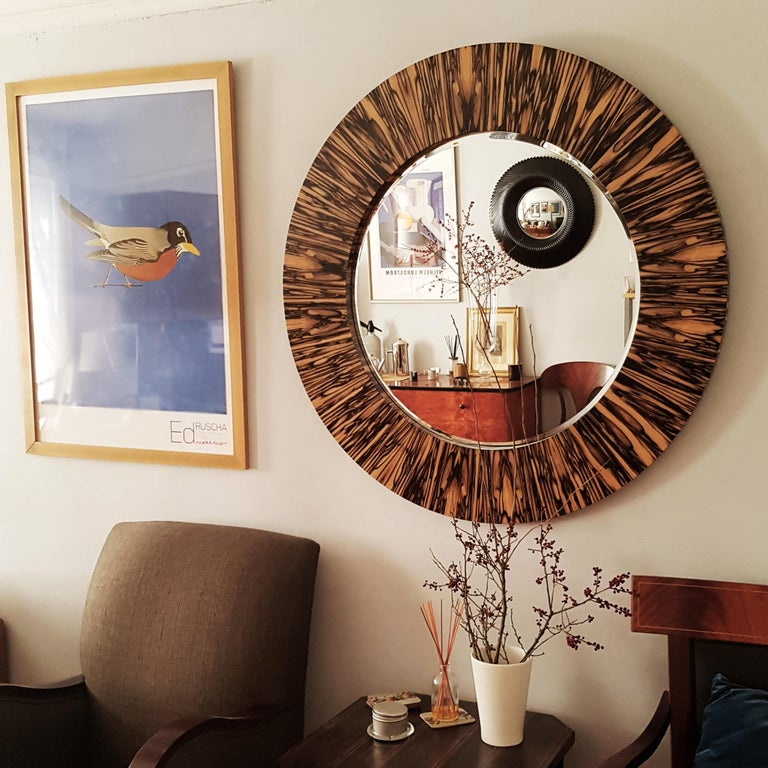 Modernist series Wide Frame Mirror in Royal White Ebony For Sale 2
