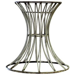 Modernist Sheaf of Wheat Style Iron Table Base