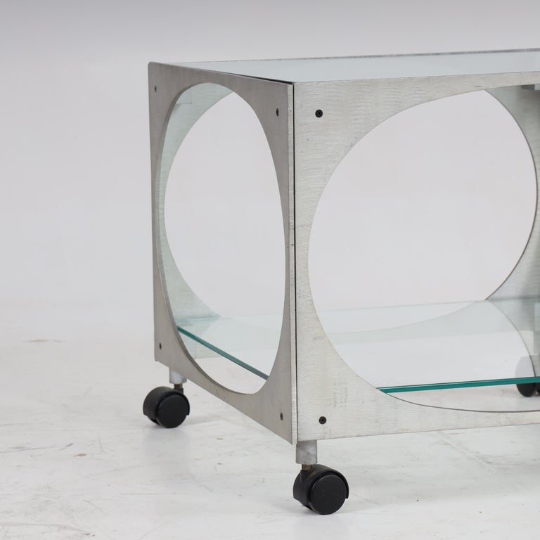 Late 20th Century Modernist Side Table by Lorenzo Burchiellaro For Sale