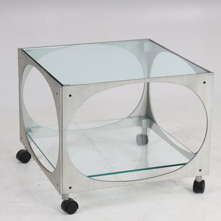 Aluminum Modernist Side Table by Lorenzo Burchiellaro For Sale