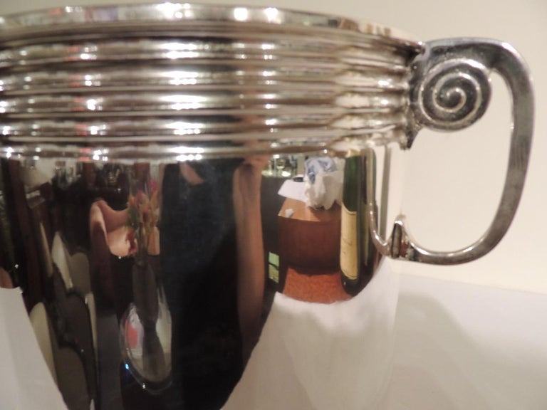 Art Deco Modernist Silver Champagne Cooler For Sale