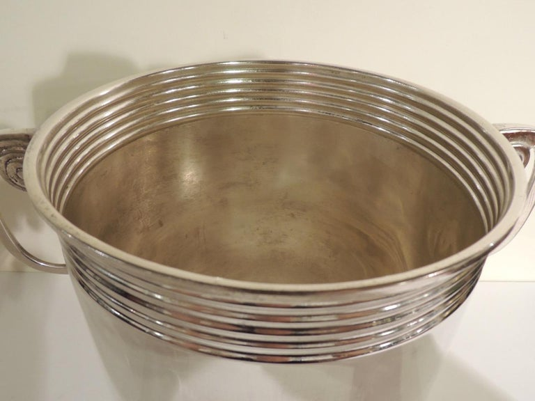 Modernist Silver Champagne Cooler In Good Condition For Sale In Oakland, CA