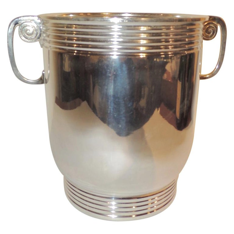 Modernist Silver Champagne Cooler For Sale