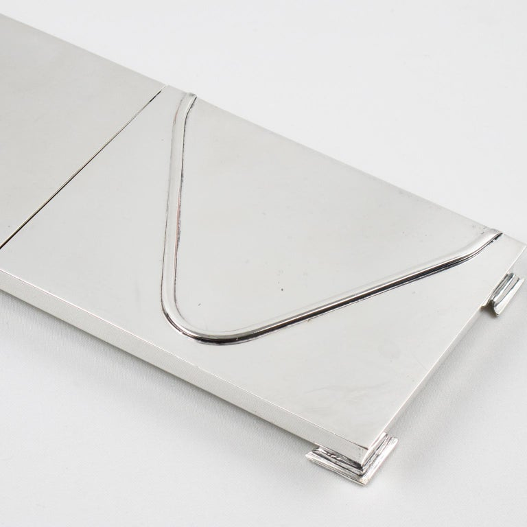 Silver Plate 1960s Extra Long Box In Good Condition For Sale In Atlanta, GA