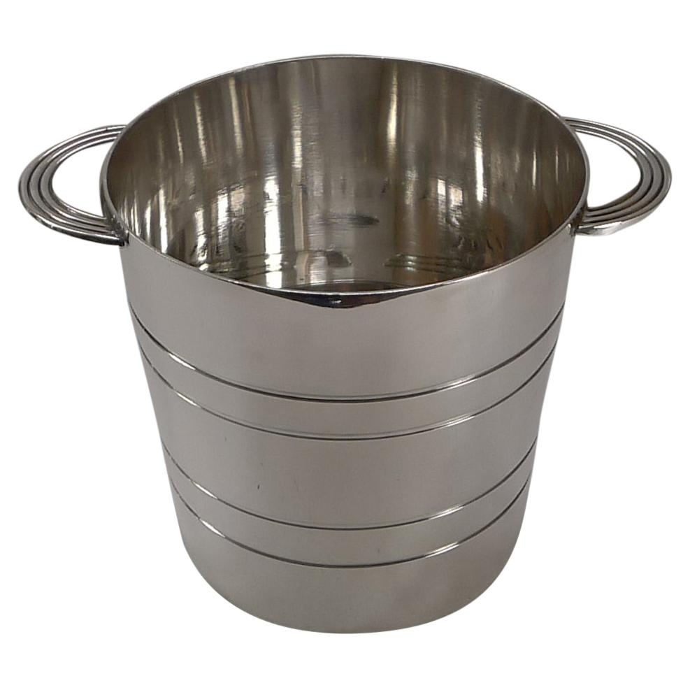 Modernist Silver Plated Ice Bucket / Pail by Elkington & Co. c.1963