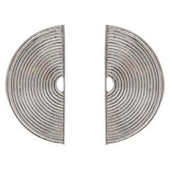 Modernist Silver Stud Earrings Scandinavia, 1970s