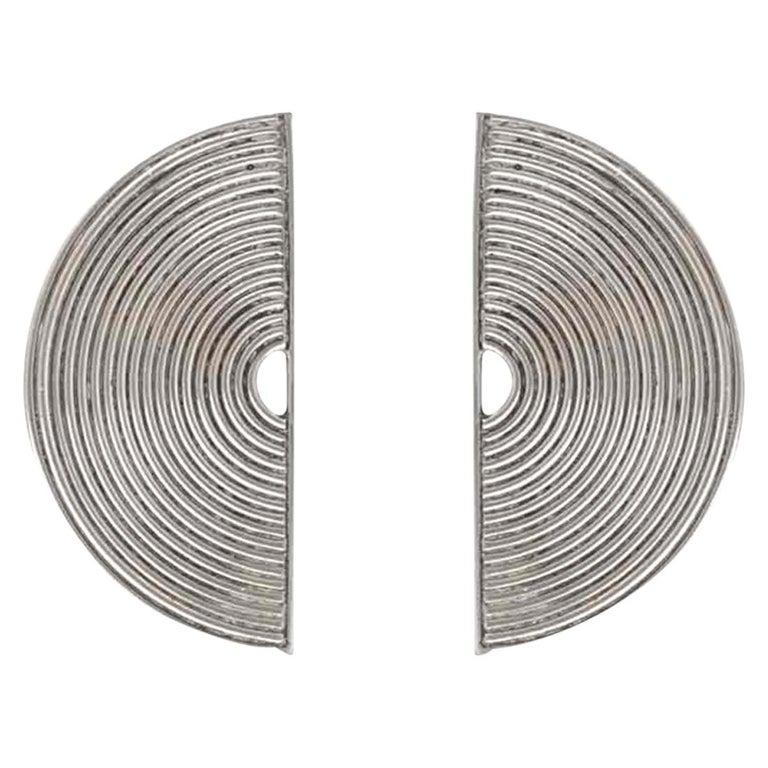 Modernist Silver Stud Earrings Scandinavia, 1970s For Sale
