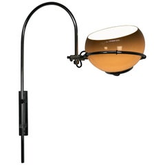Modernist Space Age Dutch Wall Mounted Swivel Lamp by Dijkstra Lumens