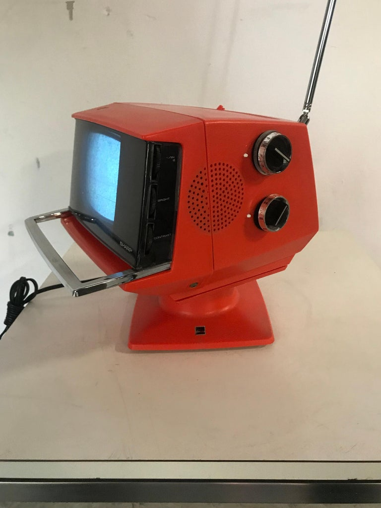 Late 20th Century Modernist Space Age Sharp Television, Model 3s-111 R..JAPAN, circa 1970 For Sale