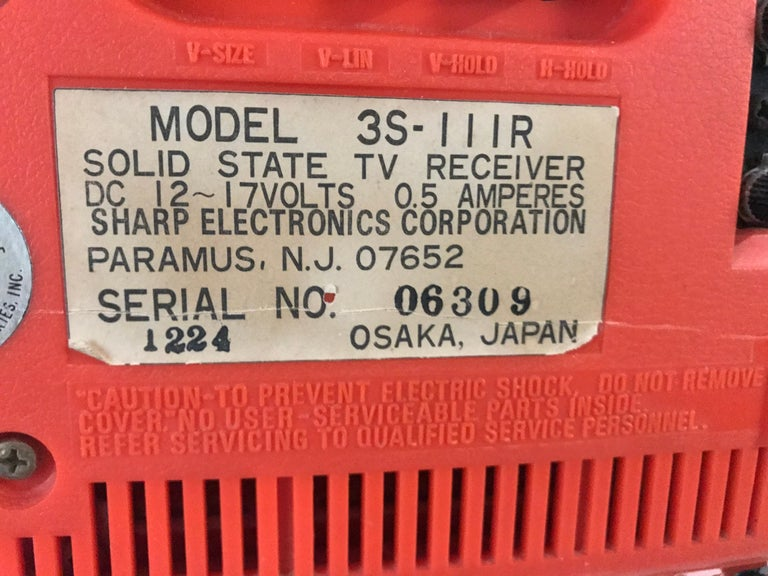 Chrome Modernist Space Age Sharp Television, Model 3s-111 R..JAPAN, circa 1970 For Sale