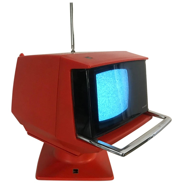 Modernist Space Age Sharp Television, Model 3s-111 R..JAPAN, circa 1970 For Sale