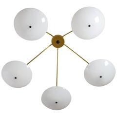 Modernist Sputnik Ceiling Light, 1950s