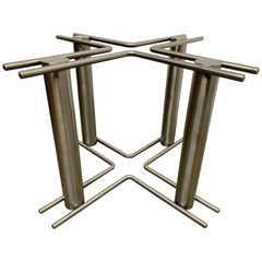 Modernist Stainless Steel Table Base