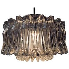 Modernist Starburst Glass Pendant Lamp from Glashütte Limburg, 1960s