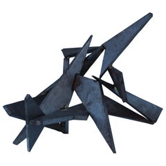 Modernist Steel Table Sculpture
