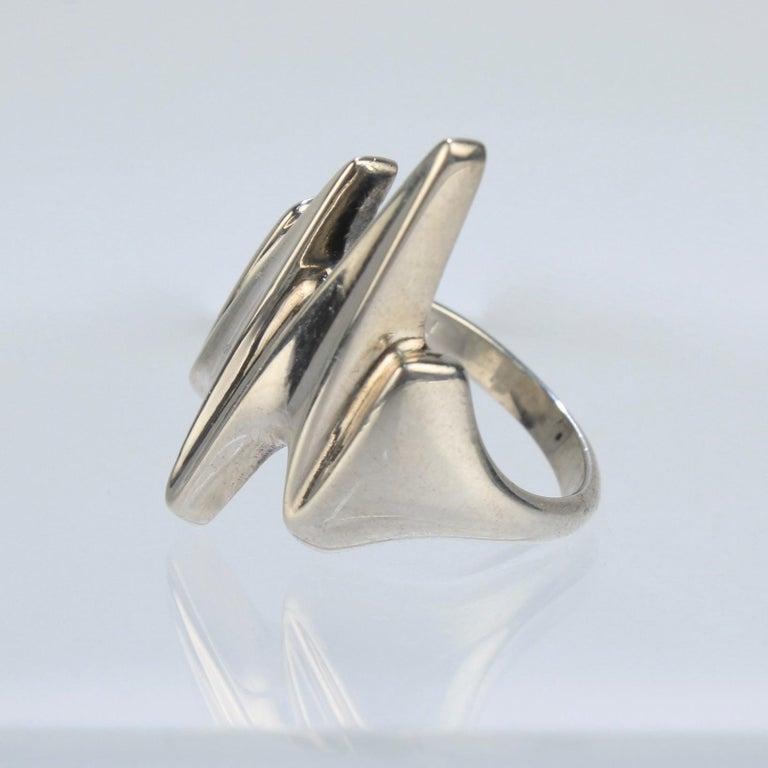 Women's or Men's Modernist Sterling Silver Ring No. 125 by Henning Koppel for Georg Jensen For Sale