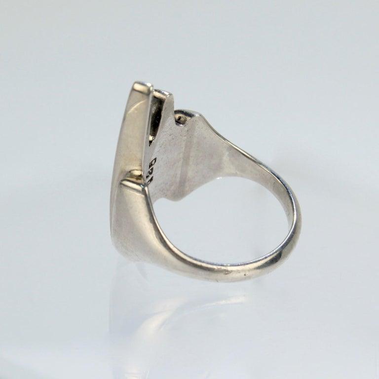 Modernist Sterling Silver Ring No. 125 by Henning Koppel for Georg Jensen For Sale 1