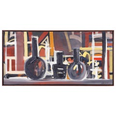 Modernist Still Life Painting on Canvas