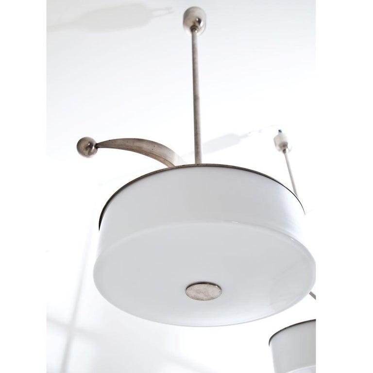 Czech Modernist Streamlined Ceiling Light, 1930s For Sale