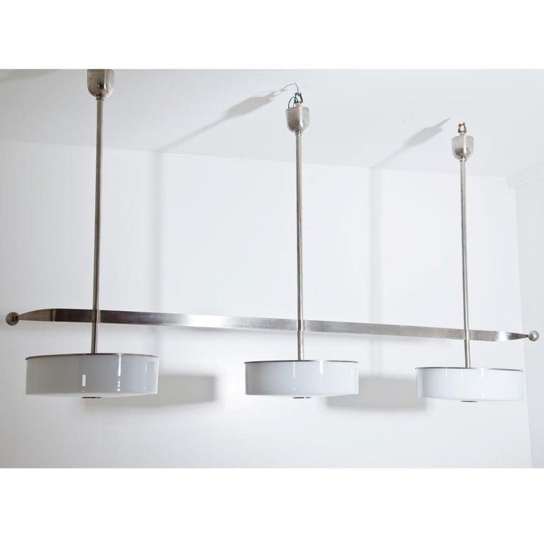 Plated Modernist Streamlined Ceiling Light, 1930s For Sale