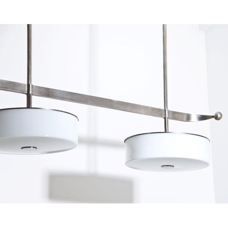 Modernist Streamlined Ceiling Light, 1930s In Good Condition For Sale In New York, NY