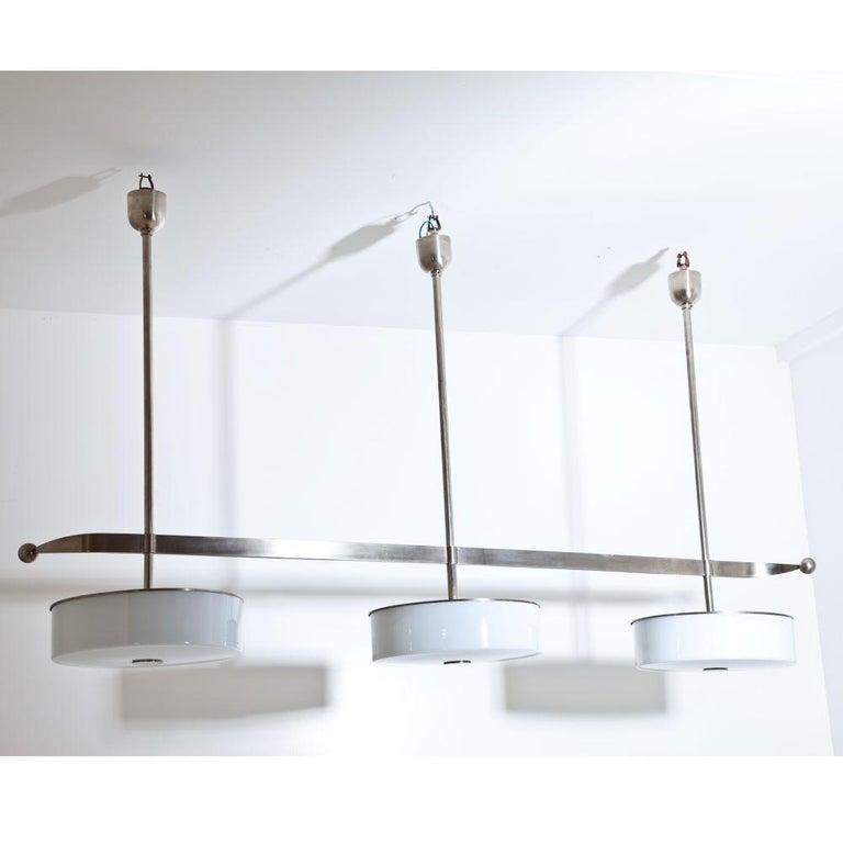 Modernist Streamlined Ceiling Light, 1930s For Sale 1