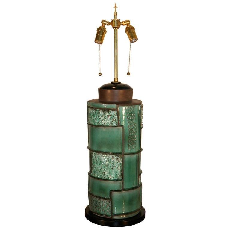 Modernist Swiss Ceramic Lamp