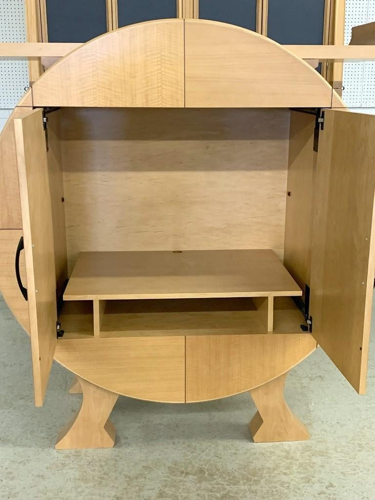 American Modernist Sycamore Bar Cabinet by Michael Ryan Architects For Sale