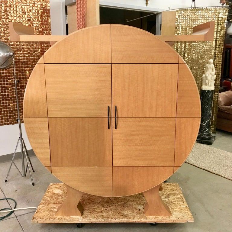 Modernist Sycamore Bar Cabinet by Michael Ryan Architects For Sale 6