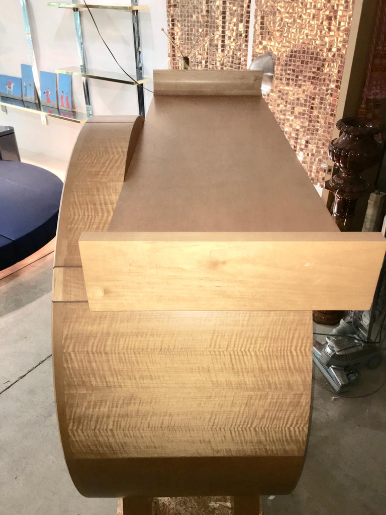 Modernist Sycamore Bar Cabinet by Michael Ryan Architects For Sale 13
