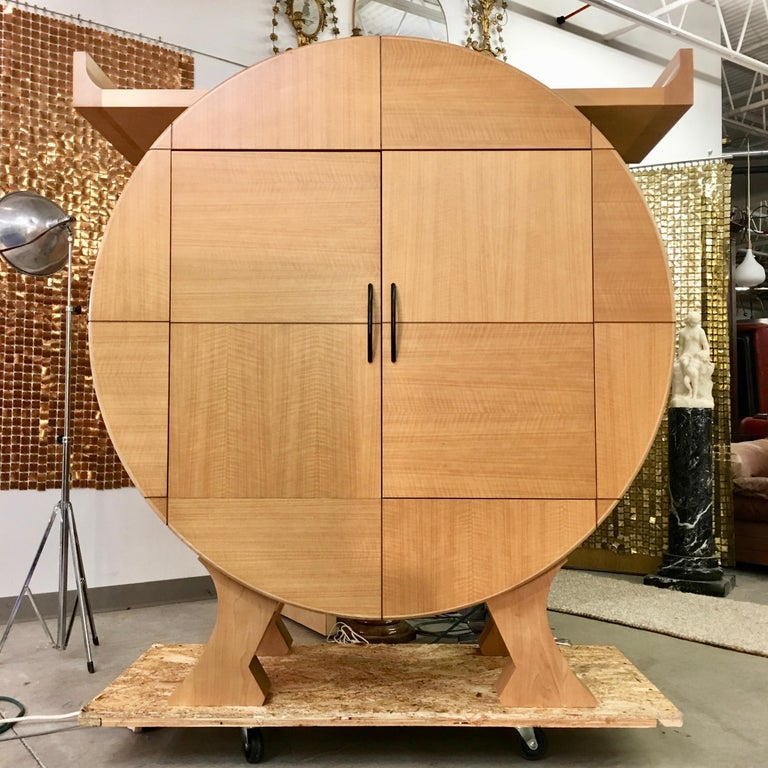 Modernist Sycamore Bar Cabinet by Michael Ryan Architects For Sale 3