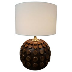 Modernist Table Lamp with Raised Discs
