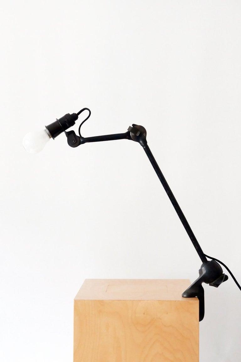 Modernist Task Light or Clamp Table Lamp by Bernard-Albin Gras for Gras, 1920s For Sale 3