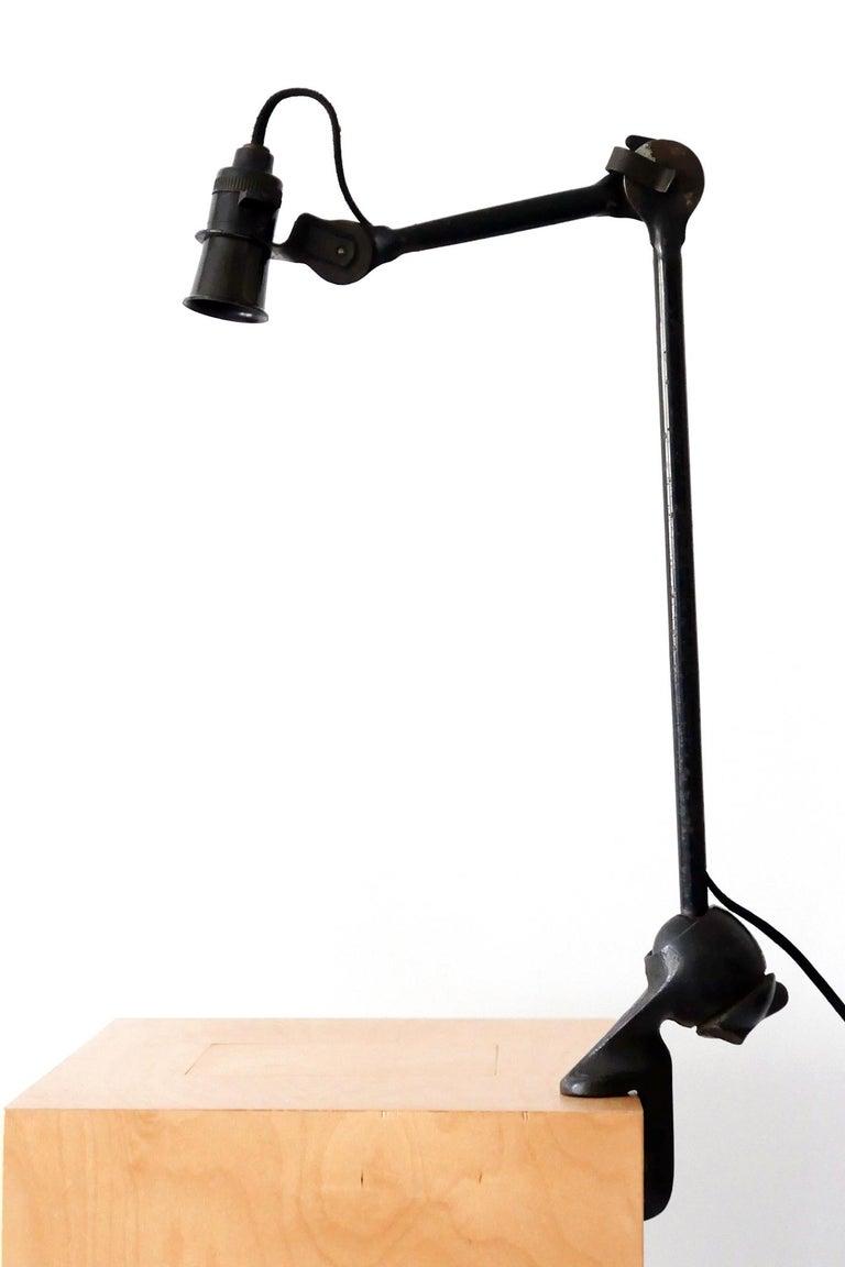Modernist Task Light or Clamp Table Lamp by Bernard-Albin Gras for Gras, 1920s For Sale 4