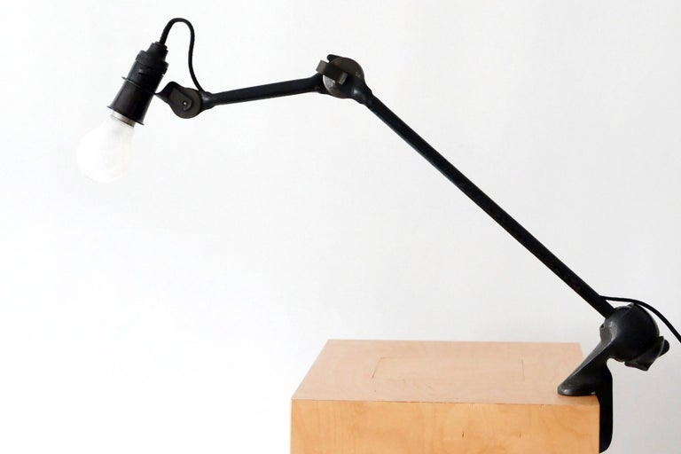 Modernist Task Light or Clamp Table Lamp by Bernard-Albin Gras for Gras, 1920s For Sale 5