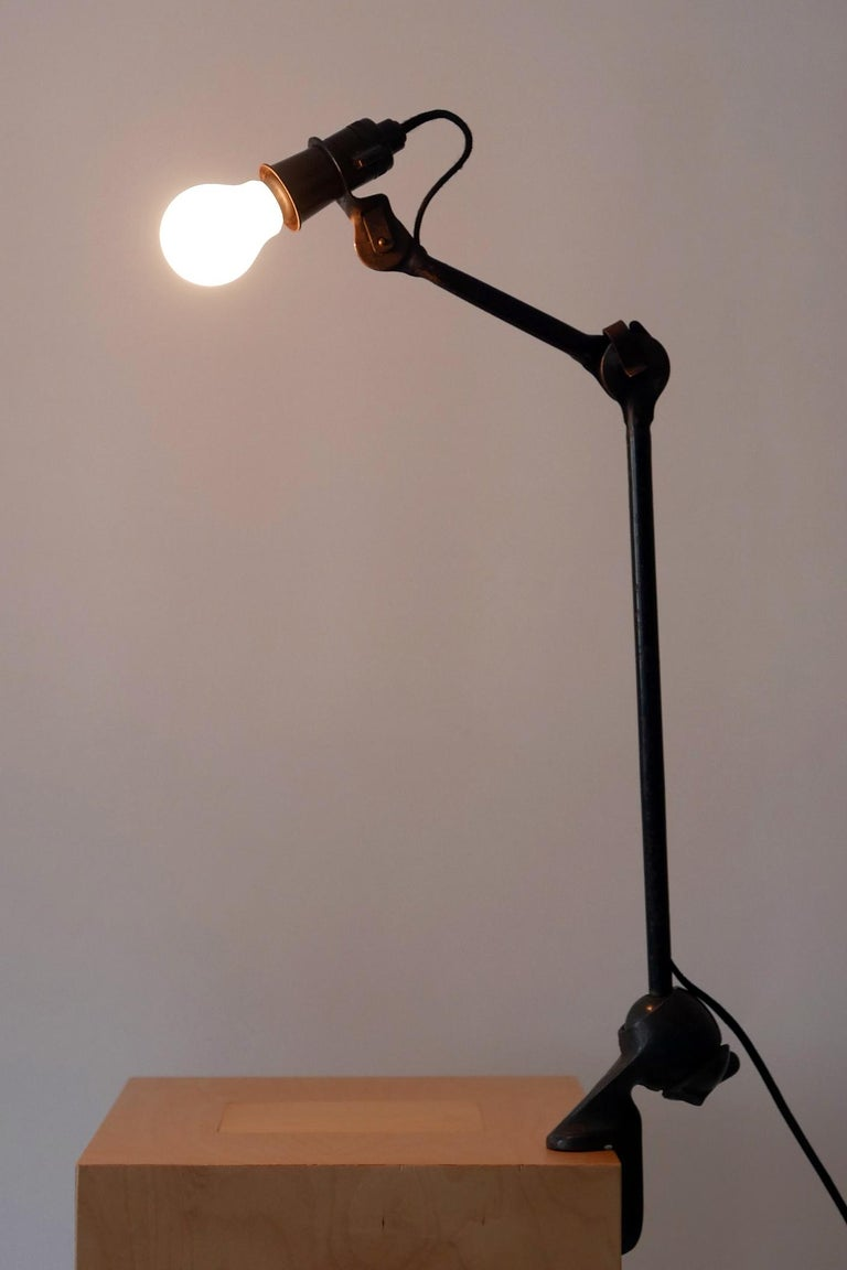 Modernist Task Light or Clamp Table Lamp by Bernard-Albin Gras for Gras, 1920s For Sale 7