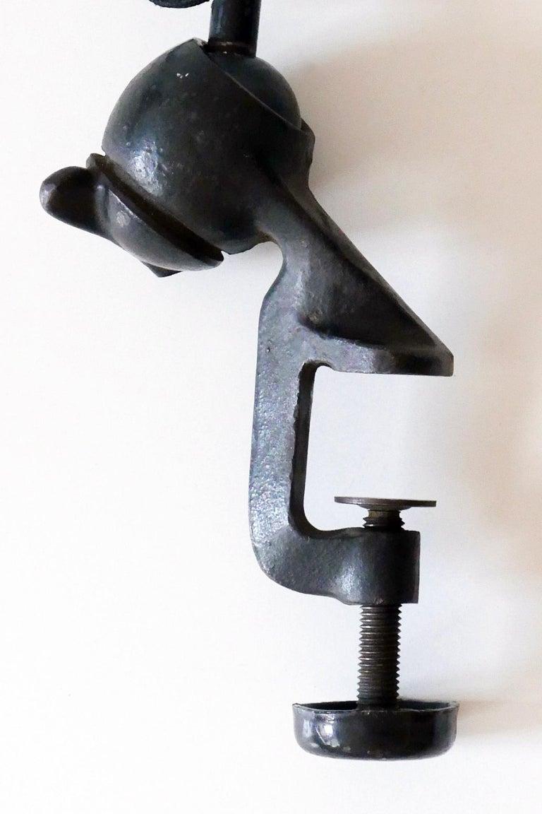 Modernist Task Light or Clamp Table Lamp by Bernard-Albin Gras for Gras, 1920s For Sale 11