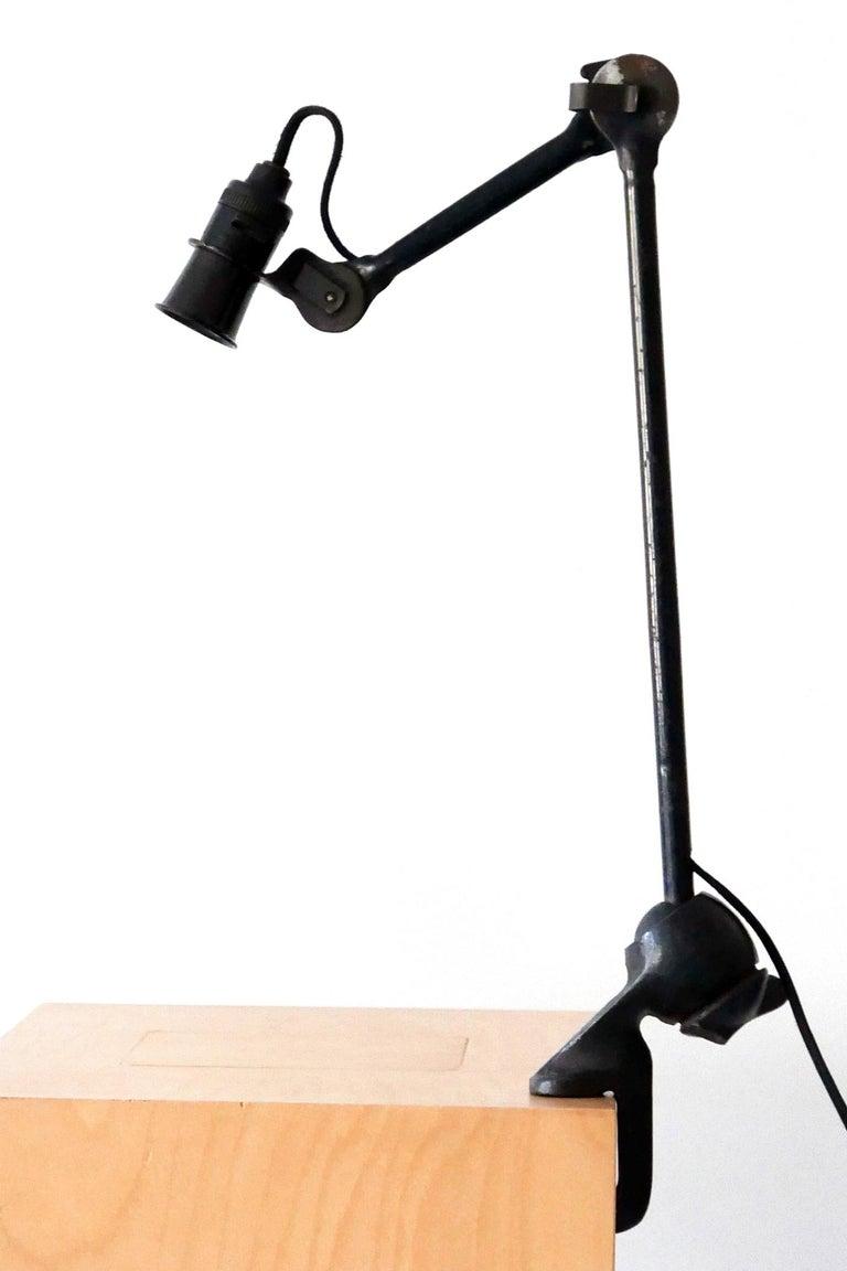 Cast Modernist Task Light or Clamp Table Lamp by Bernard-Albin Gras for Gras, 1920s For Sale