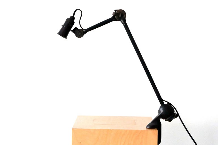 Modernist Task Light or Clamp Table Lamp by Bernard-Albin Gras for Gras, 1920s In Good Condition For Sale In Munich, DE