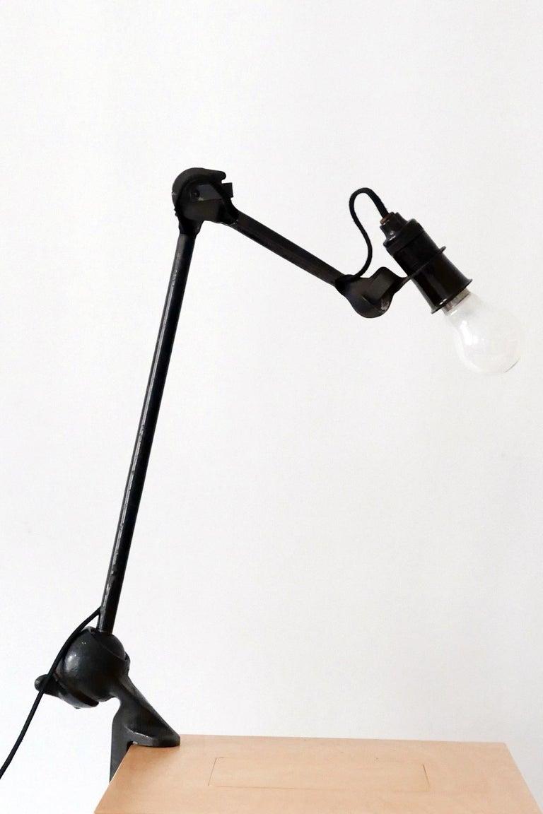 Modernist Task Light or Clamp Table Lamp by Bernard-Albin Gras for Gras, 1920s For Sale 1