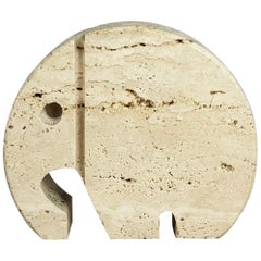 Modernist Travertine Marble Elephant Figure by Fratelli Mannelli, Italy, 1970s