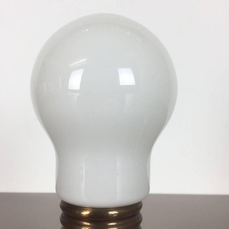 Modernist Vintage 1970s Italian Small Glass Bulb Table Light, Italy 1