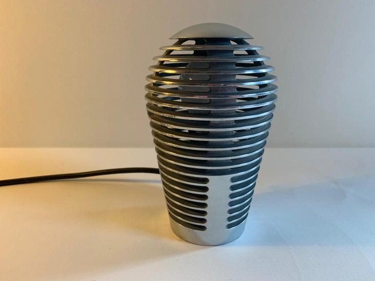 Post-Modern Modernist Vintage Metal Table Lamp Zen by S.y.c. Cevese, 1980s