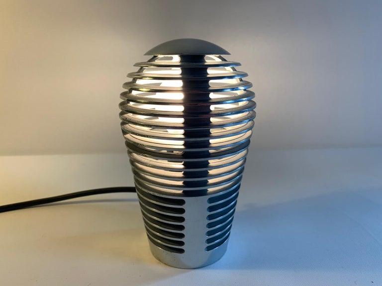 Modernist Vintage Metal Table Lamp Zen by S.y.c. Cevese, 1980s 1