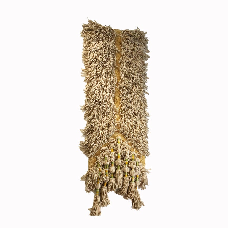 Article:  Wall rug   Decade:  1970s   Origin:  Germany   Producer:  Schloss Hackhausen, Germany   Design:  Ewald Kröner   This rug is a great example of 1970s pop art interior. Made in high quality handmade macramé weaving