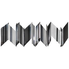 Modernist Wall Mounted Steel Sculpture