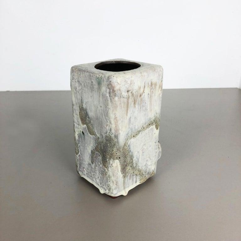 Modernist West German Ceramic Studio Vase Object by Helmut Schäffenacker, 1960s For Sale 1