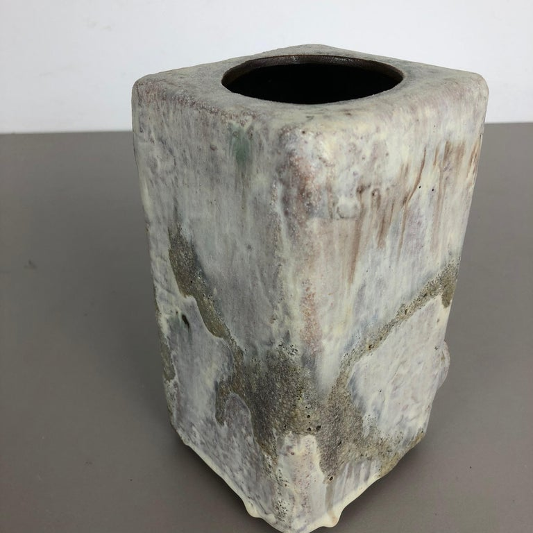 Modernist West German Ceramic Studio Vase Object by Helmut Schäffenacker, 1960s For Sale 4
